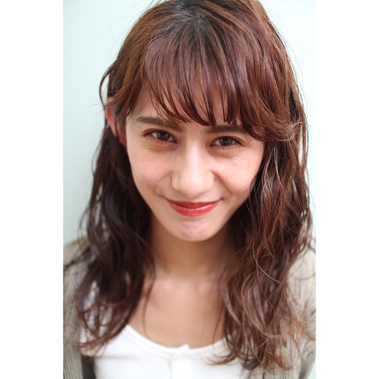 前髪パーマ ナチュラル 前髪あり 簡単スタイリング ヘアスタイルや髪型の写真・画像 | 市田莉子 / BEAUTRIUM265