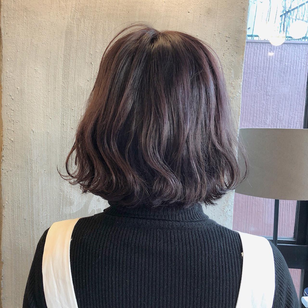透明感 外国人風カラー ロブ ナチュラル ヘアスタイルや髪型の写真・画像