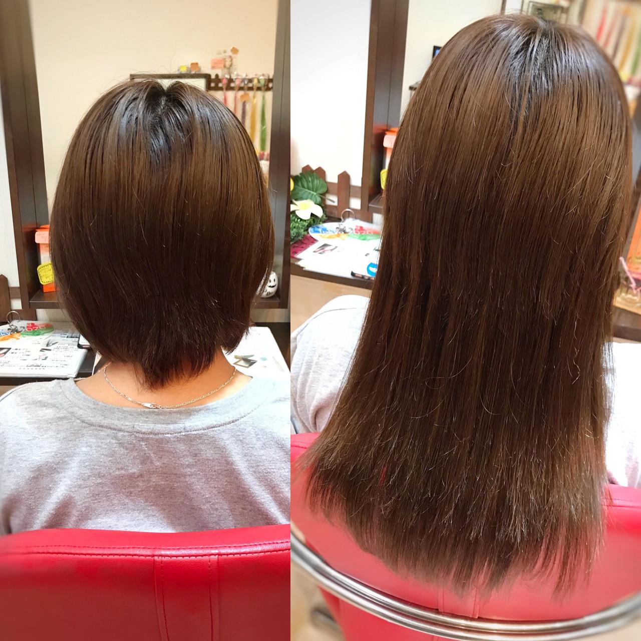 ショートヘア エクステ 秋冬スタイル ナチュラル ヘアスタイルや髪型の写真・画像