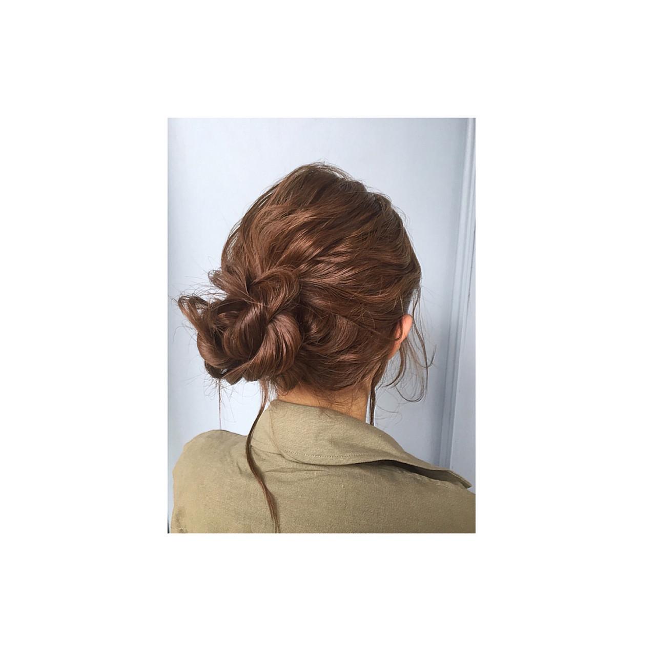 ハーフアップ ミディアム 外国人風 ゆるふわ ヘアスタイルや髪型の写真・画像