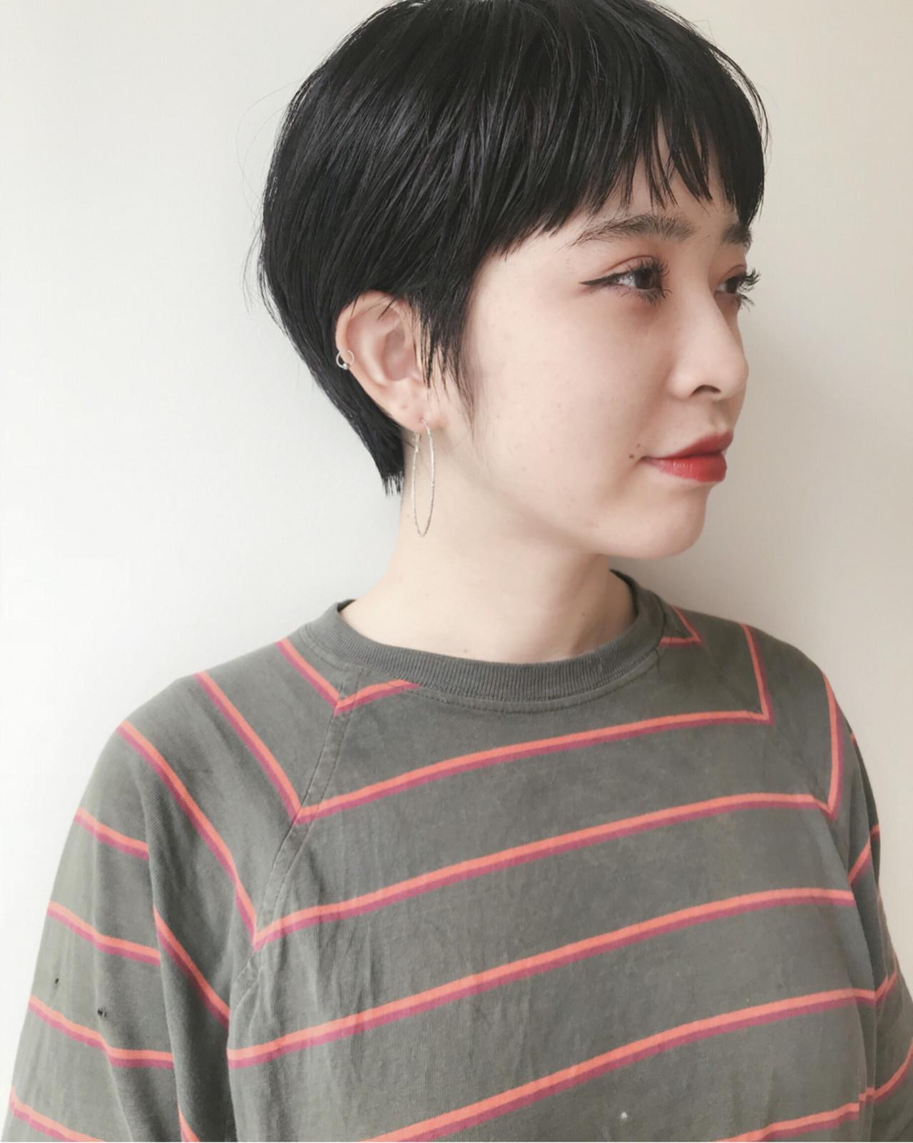 ナチュラル 黒髪 ショート マッシュ ヘアスタイルや髪型の写真・画像 | 仙頭郁弥 / LIM+LIM