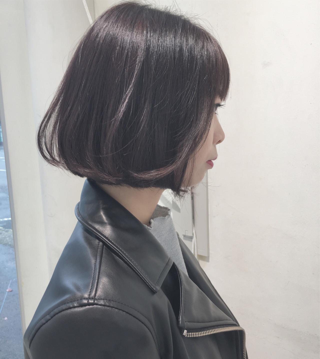 小顔 タンバルモリ ショートボブ ボブ ヘアスタイルや髪型の写真・画像