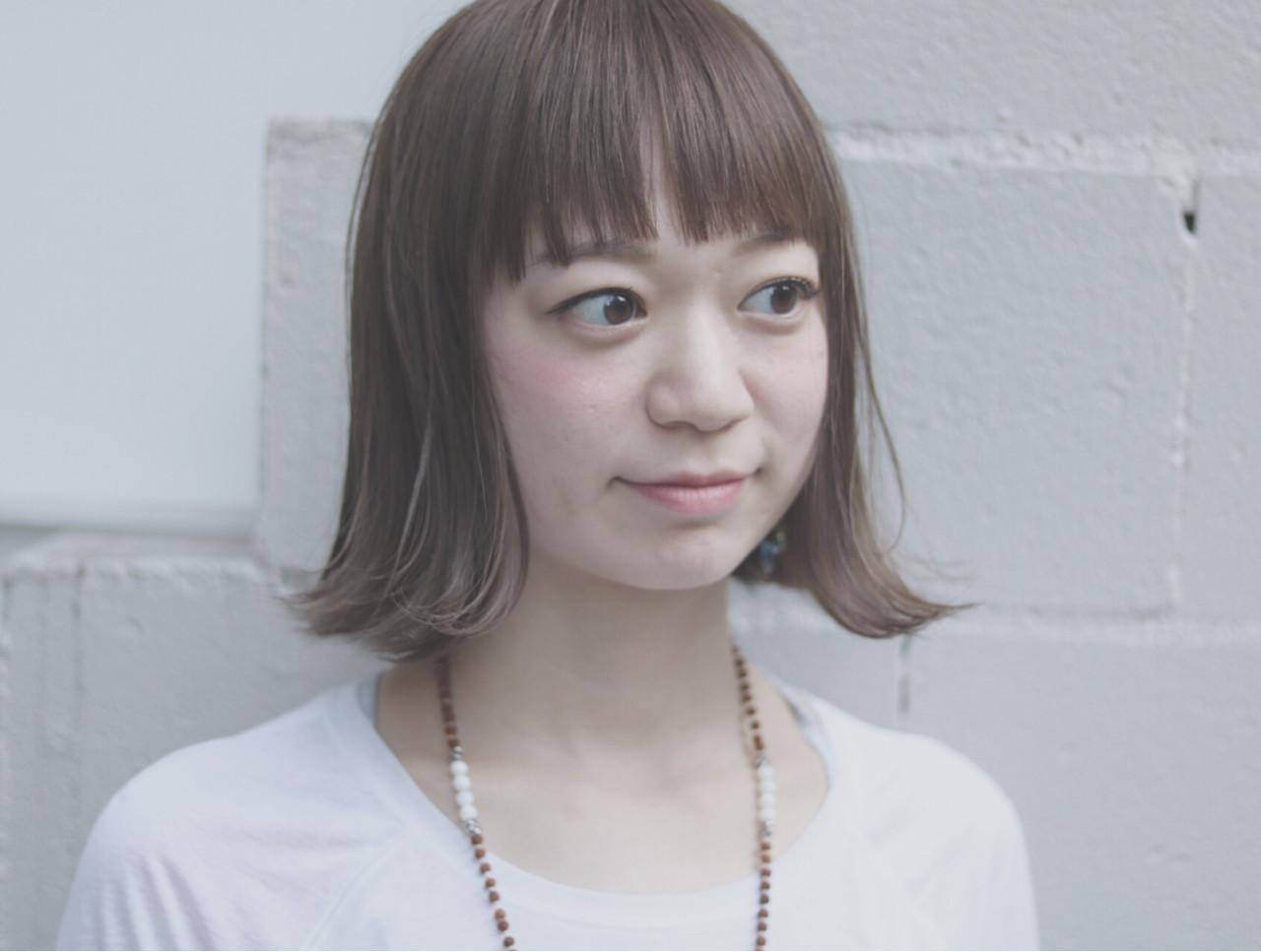 オルチャン ボブ グレージュ ナチュラル ヘアスタイルや髪型の写真・画像 | 首藤慎吾 / free-lance