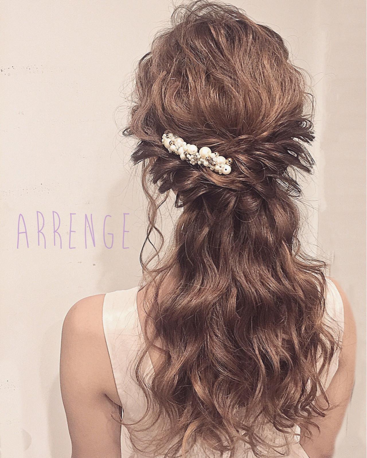 花嫁 ポニーテール 上品 ロング ヘアスタイルや髪型の写真・画像   IKUMI / ルーミエ Roumier