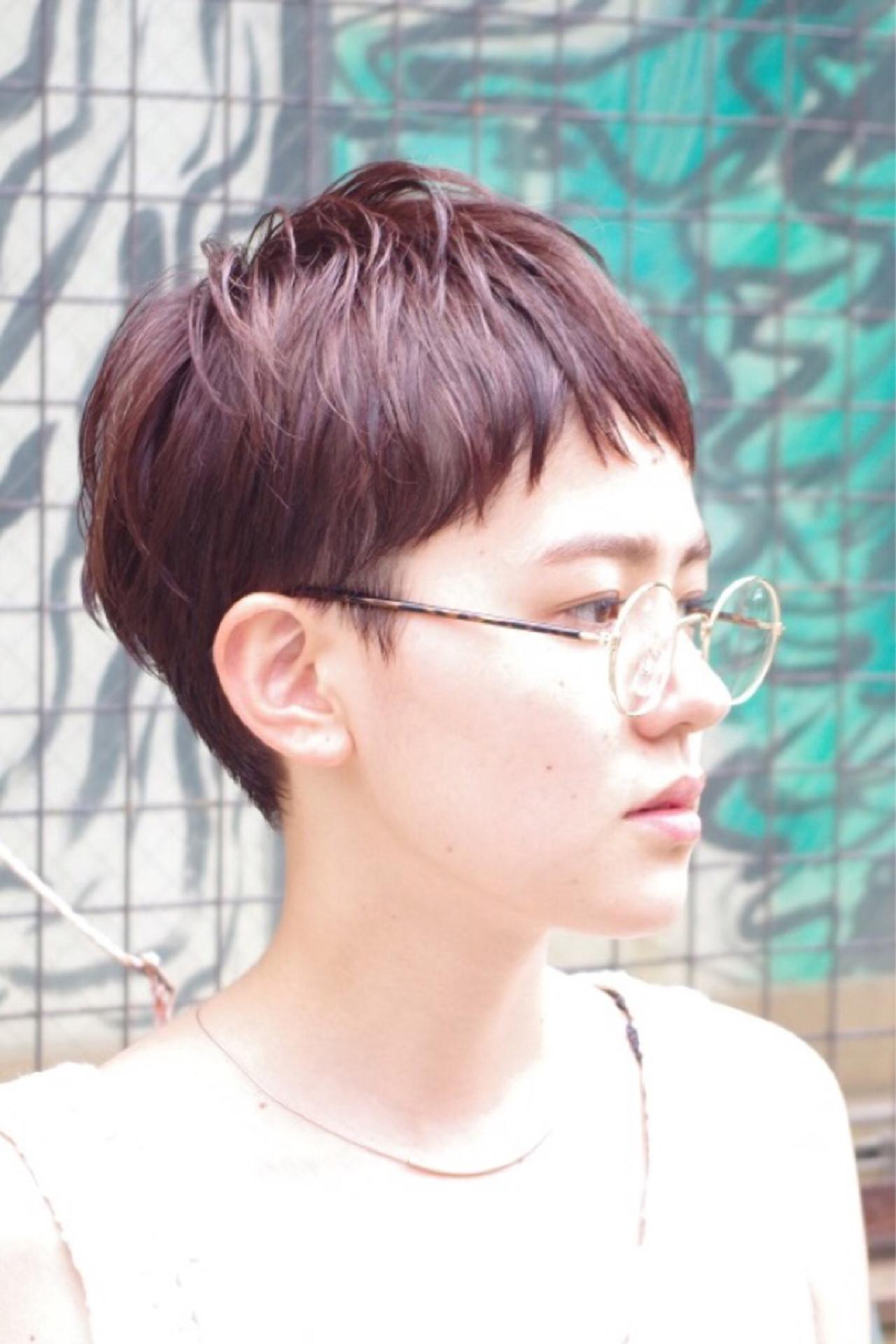 ハイライト ショート ピュア ウェットヘア ヘアスタイルや髪型の写真・画像