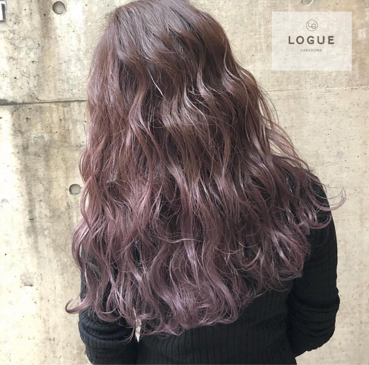 バレイヤージュ グラデーションカラー ストリート 外国人風カラー ヘアスタイルや髪型の写真・画像