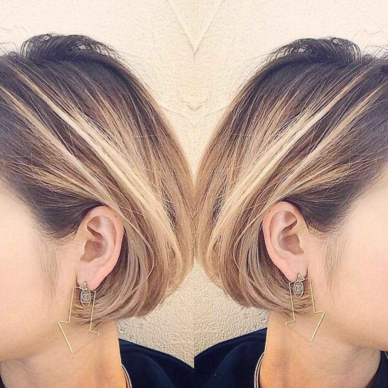 インナーカラー ボブ ストリート バレイヤージュ ヘアスタイルや髪型の写真・画像 | RUMINA //高田ゆみこ / Rumina