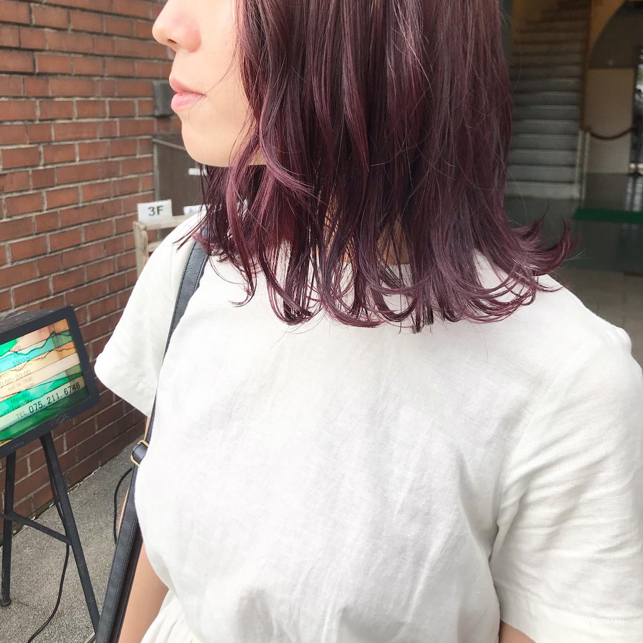 ラベンダーピンク ナチュラル ピンク ベリーピンク ヘアスタイルや髪型の写真・画像