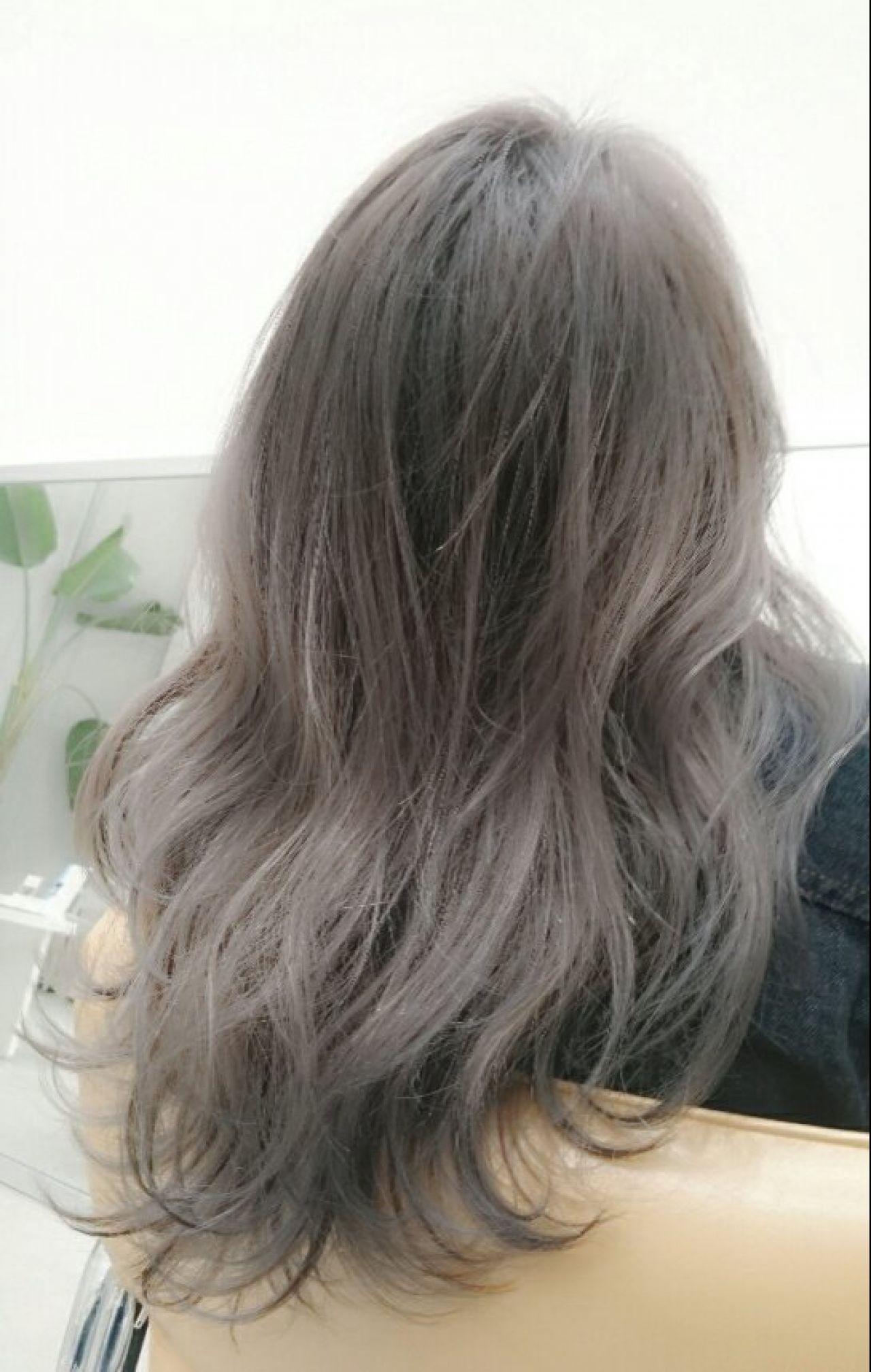 アッシュ グラデーションカラー パンク 黒髪 ヘアスタイルや髪型の写真・画像 | 白川 知博 / KEYMAN