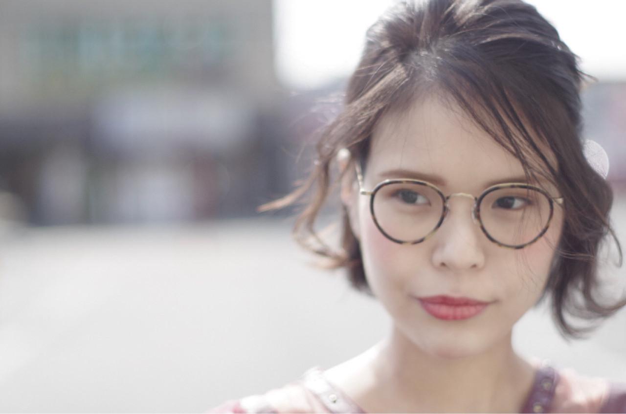 アップスタイル 色気 簡単ヘアアレンジ デート ヘアスタイルや髪型の写真・画像 | ken / sora
