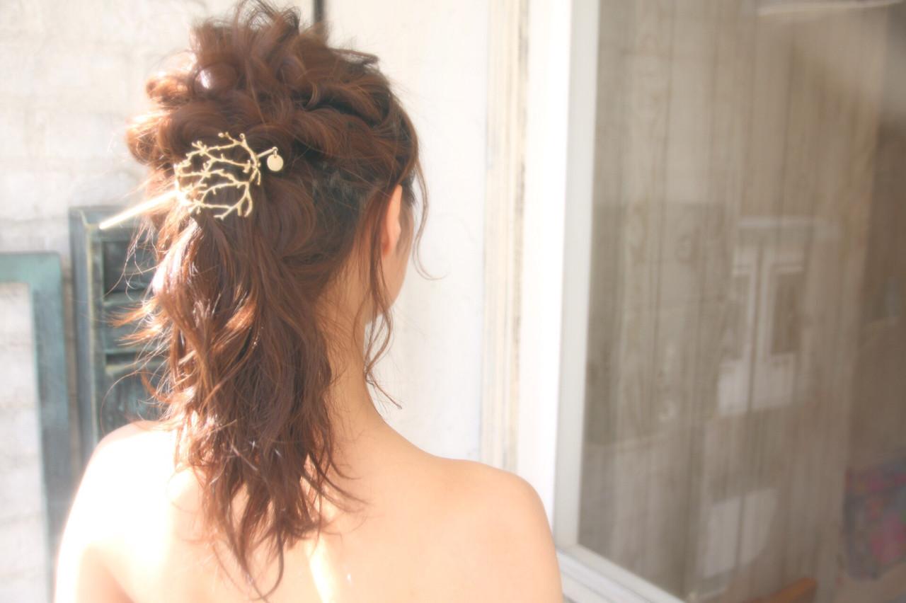 エレガント 上品 結婚式 ロング ヘアスタイルや髪型の写真・画像 | 松谷 聖史 /  estrela