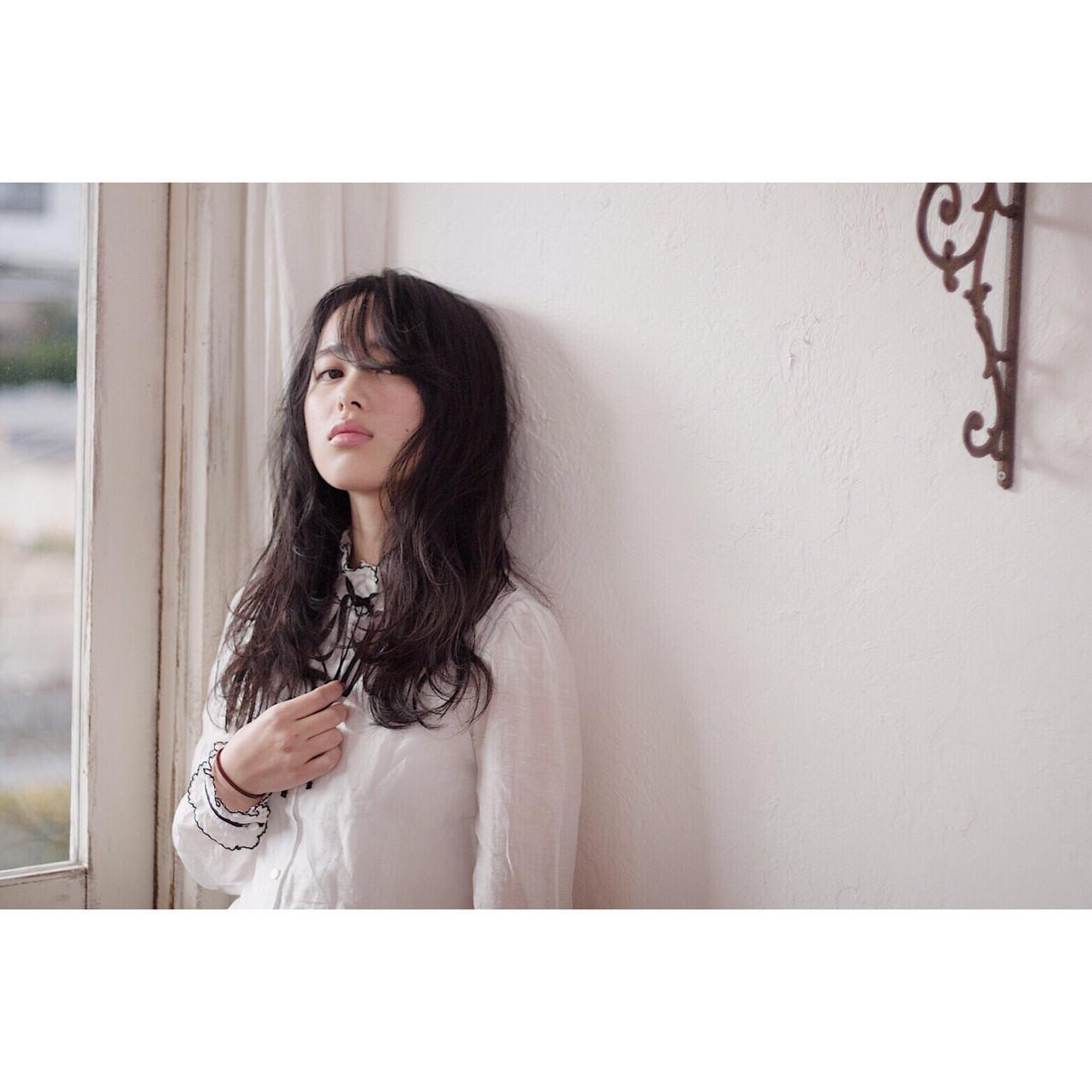 ナチュラル 黒髪 モテ髪 ロング ヘアスタイルや髪型の写真・画像 | RINO /