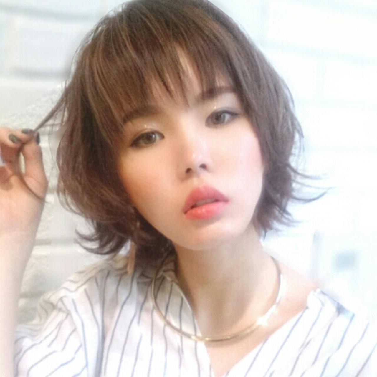 大人かわいい ブラウン 外国人風 パーマ ヘアスタイルや髪型の写真・画像 | 横徳憲史 / VISAGE genuine