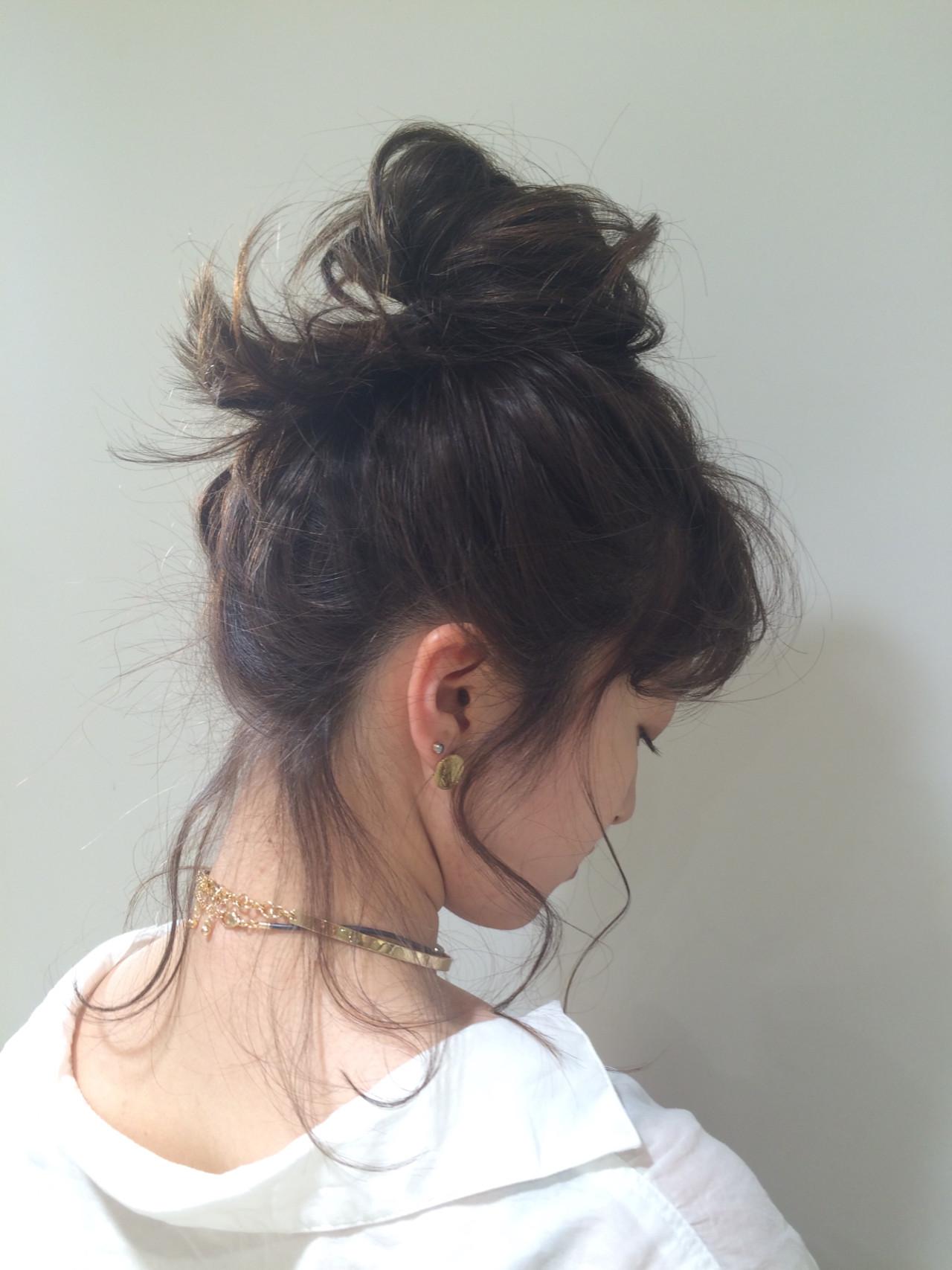 アンニュイほつれヘア ミディアム 簡単ヘアアレンジ オフィス ヘアスタイルや髪型の写真・画像 | 銀座美容師 河野絵奈 / kakimotoamsGINZA2chome店