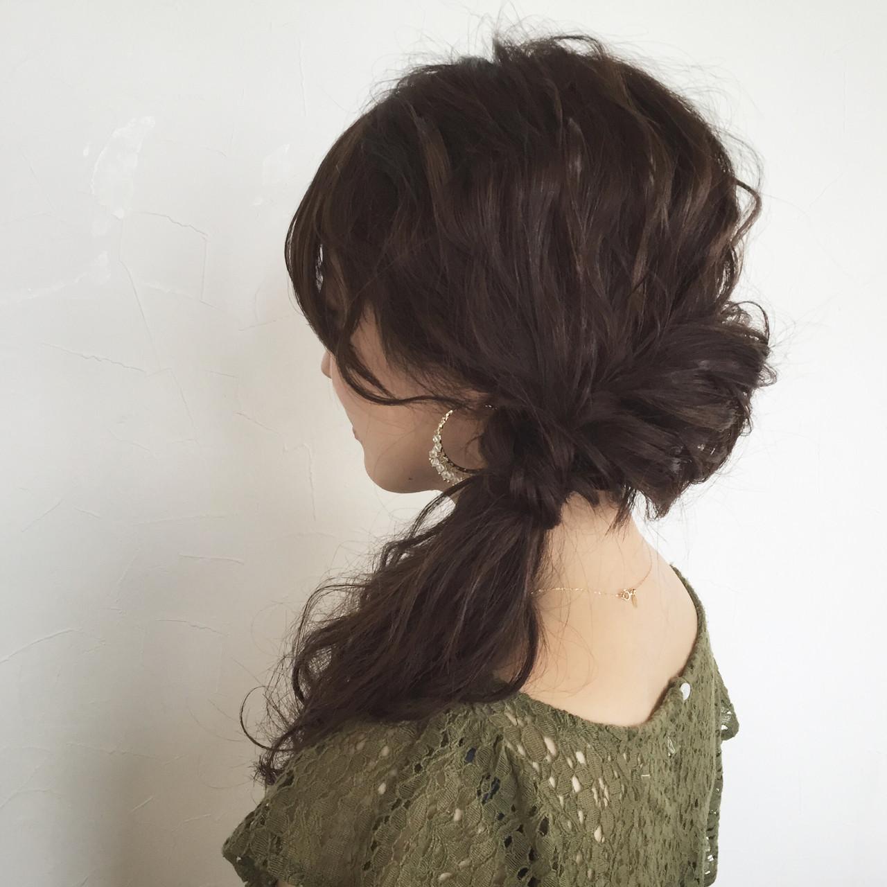 大人かわいい ゆるふわ 結婚式 ヘアアレンジ ヘアスタイルや髪型の写真・画像