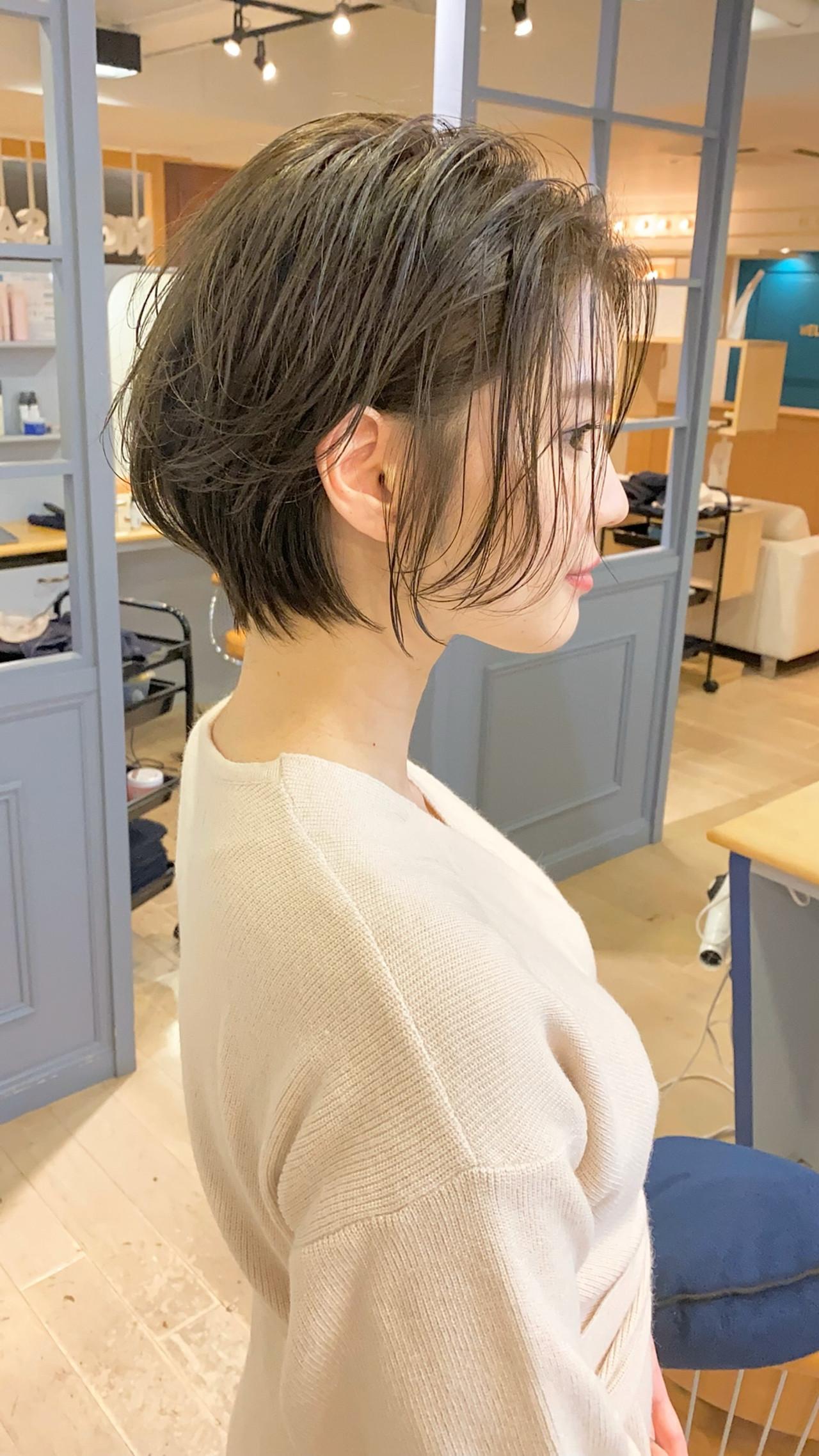 ナチュラル ショート ショートボブ ショートヘア ヘアスタイルや髪型の写真・画像 | 祖父江基志 / NOESALON