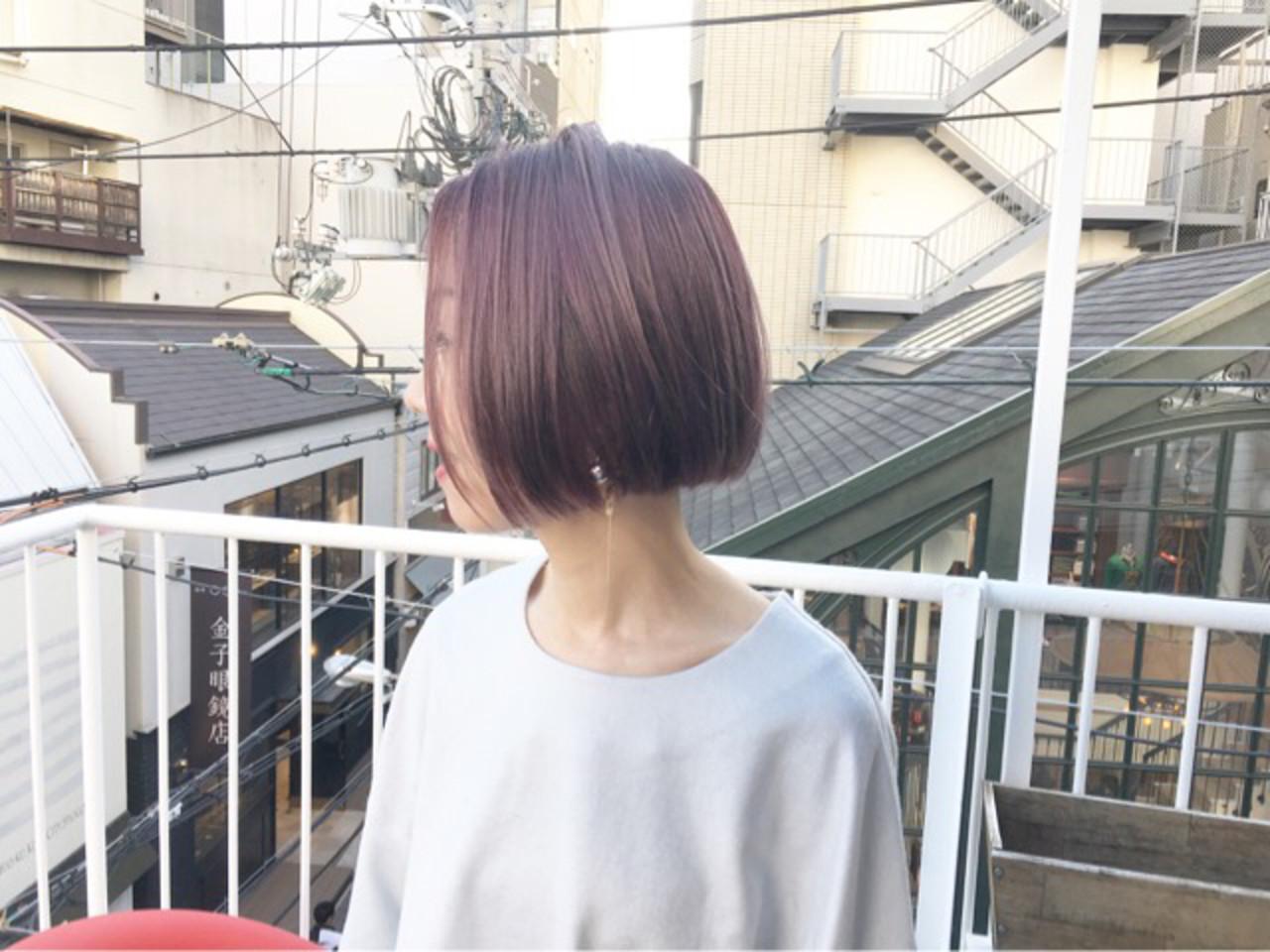 ピンクバイオレット ラズベリーピンク ラベンダーピンク ピンクラベンダー ヘアスタイルや髪型の写真・画像   COM PASS タイチ / COM PASS