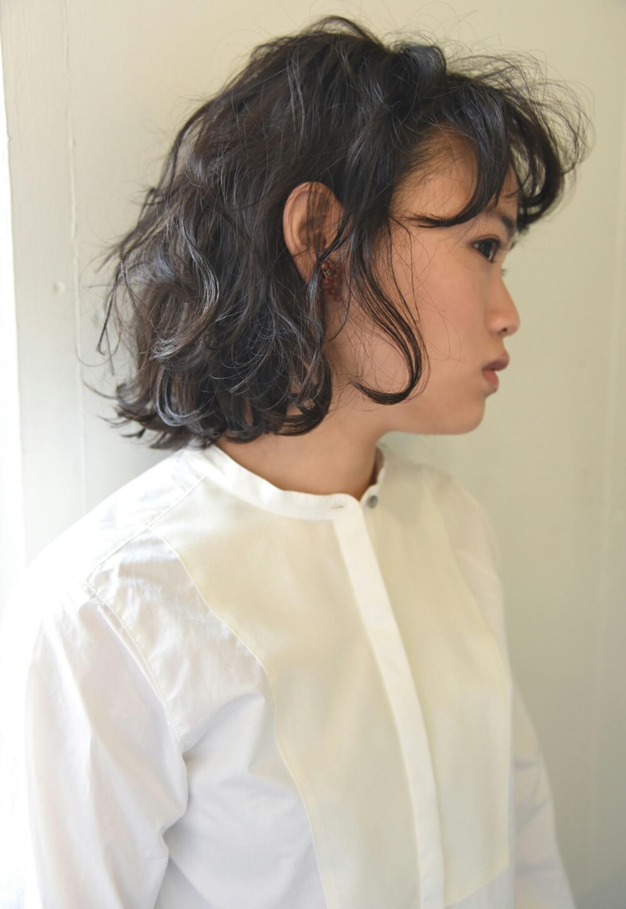 ボブ 外国人風 パーマ 前髪あり ヘアスタイルや髪型の写真・画像
