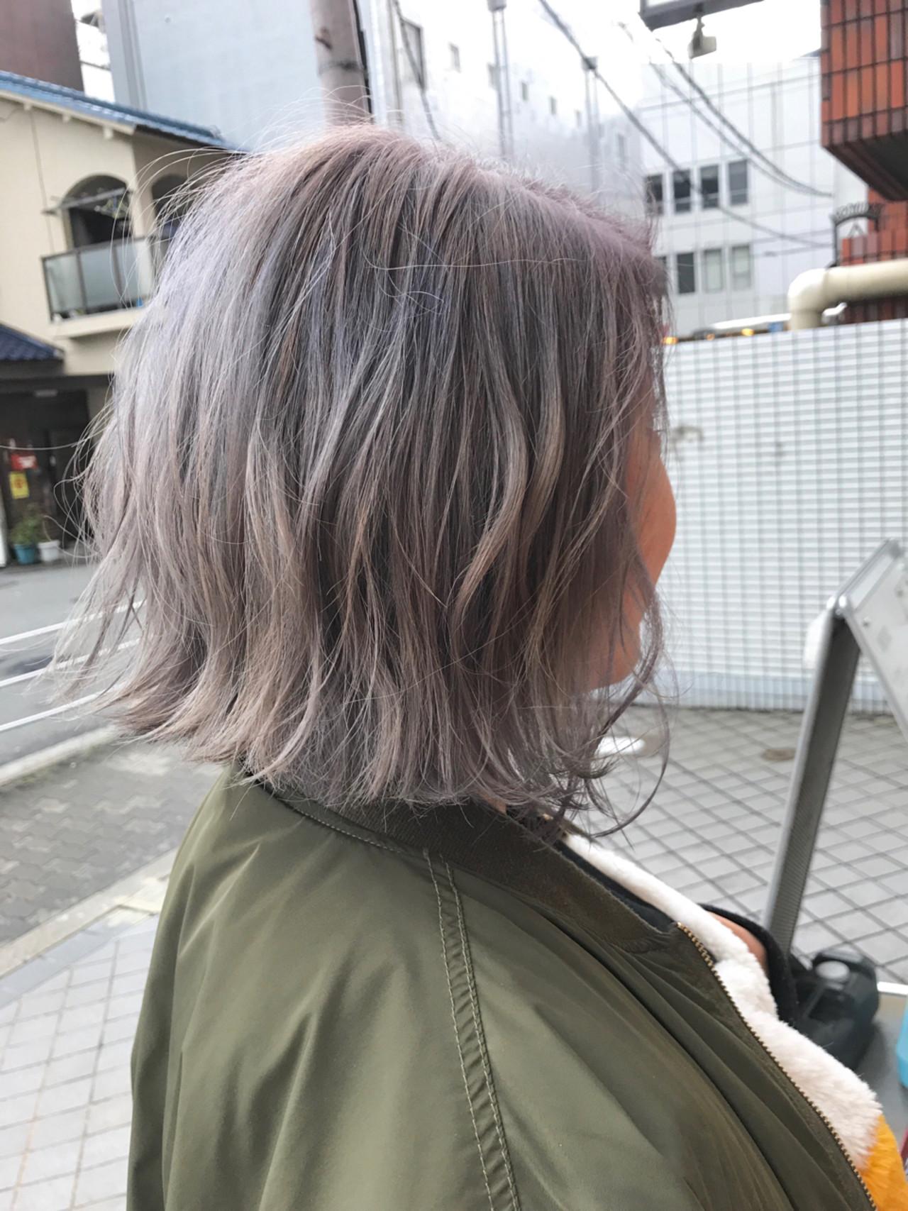 フェミニン ボブ アッシュ 簡単ヘアアレンジ ヘアスタイルや髪型の写真・画像