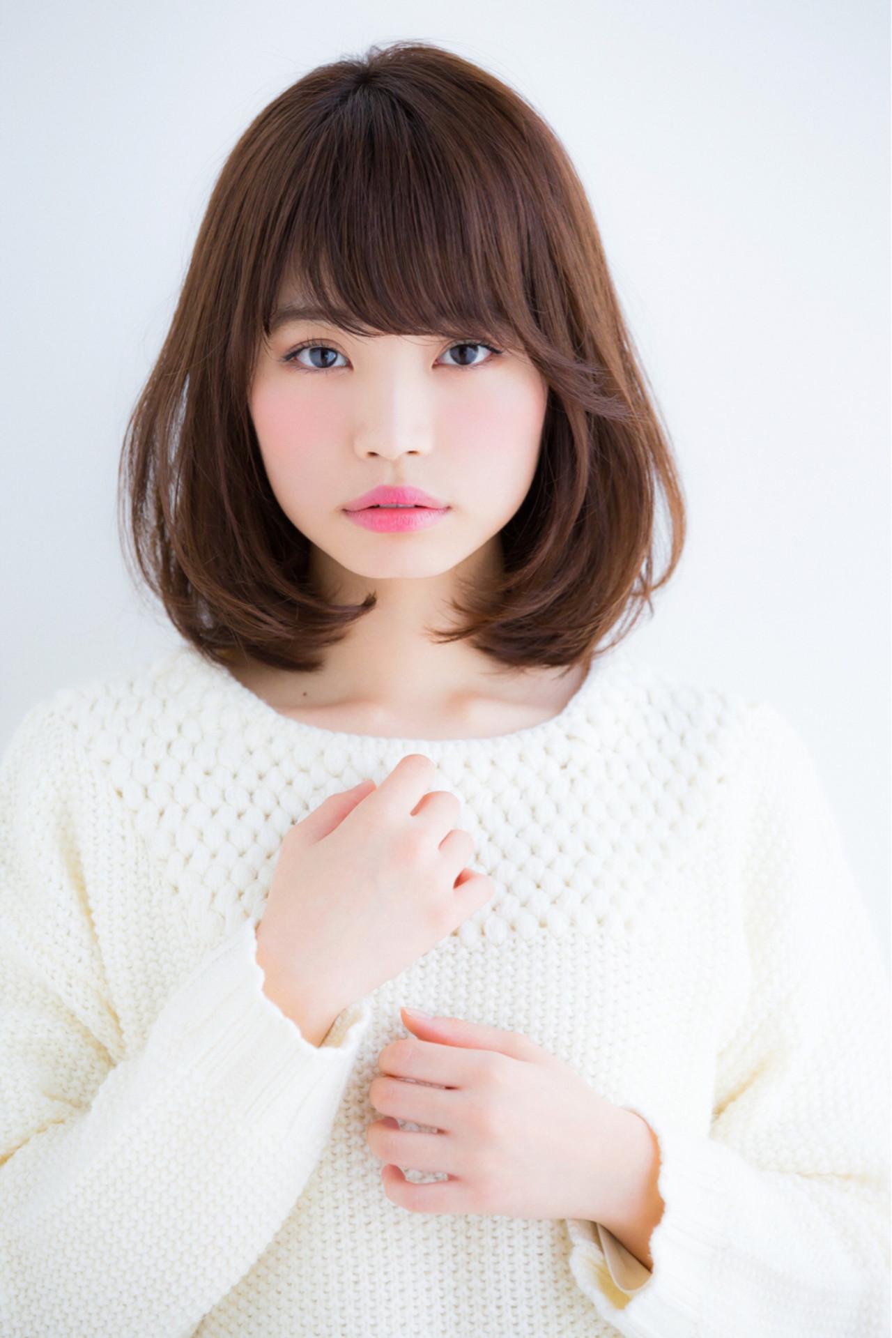 アンニュイ ゆるふわ ミディアム バレンタイン ヘアスタイルや髪型の写真・画像 | 松下哲史 / Ramie omotesando