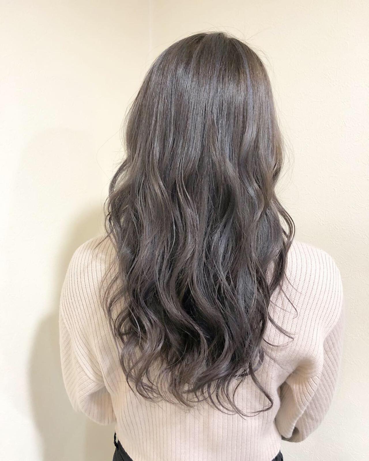 ハイライト 外国人風カラー ロング ミルクティーベージュ ヘアスタイルや髪型の写真・画像