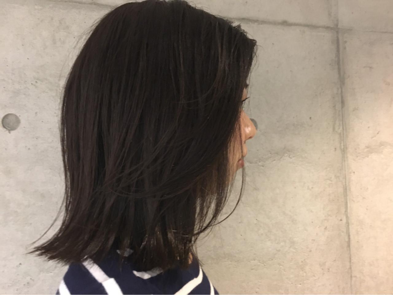 アッシュ 暗髪 黒髪 色気 ヘアスタイルや髪型の写真・画像 | Sayaka / diptyMOILA