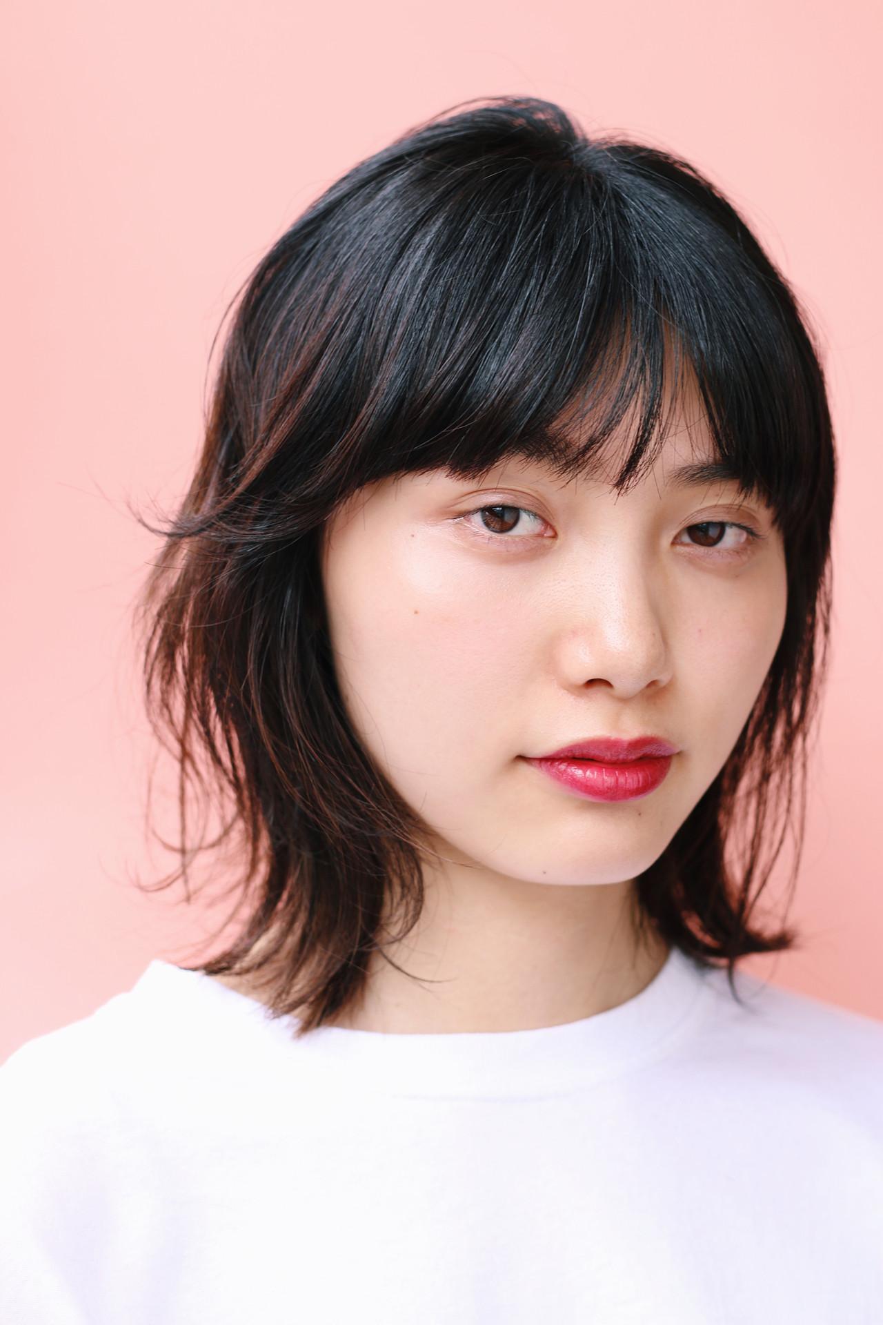 パーマ アウトドア ボブ ナチュラル ヘアスタイルや髪型の写真・画像 | 美鈴 / free-lance