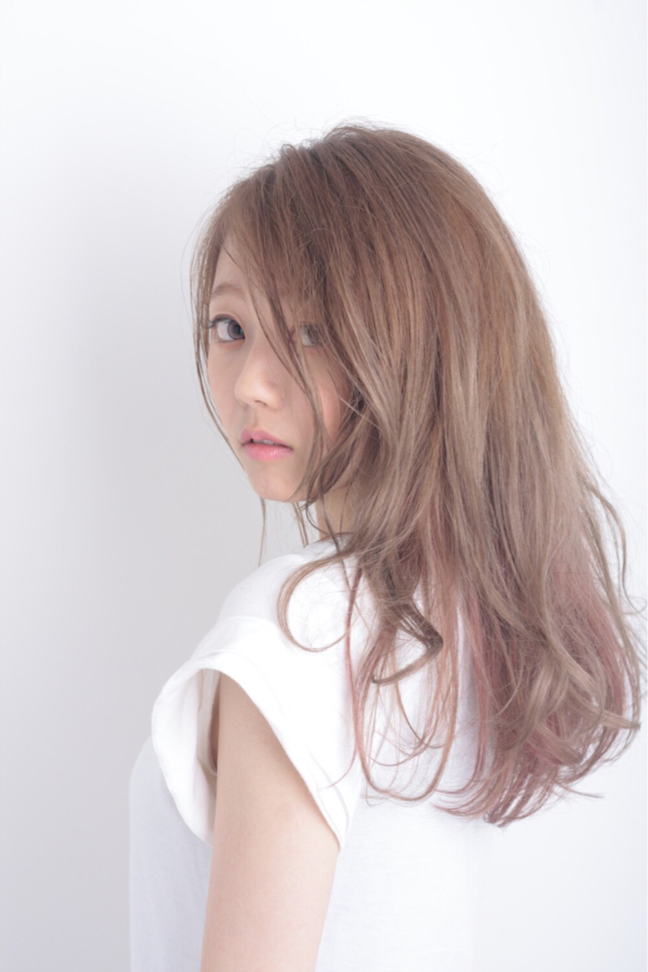 ピンク モーブ 大人かわいい ロング ヘアスタイルや髪型の写真・画像 | 長岡 大偉 / salon de belle