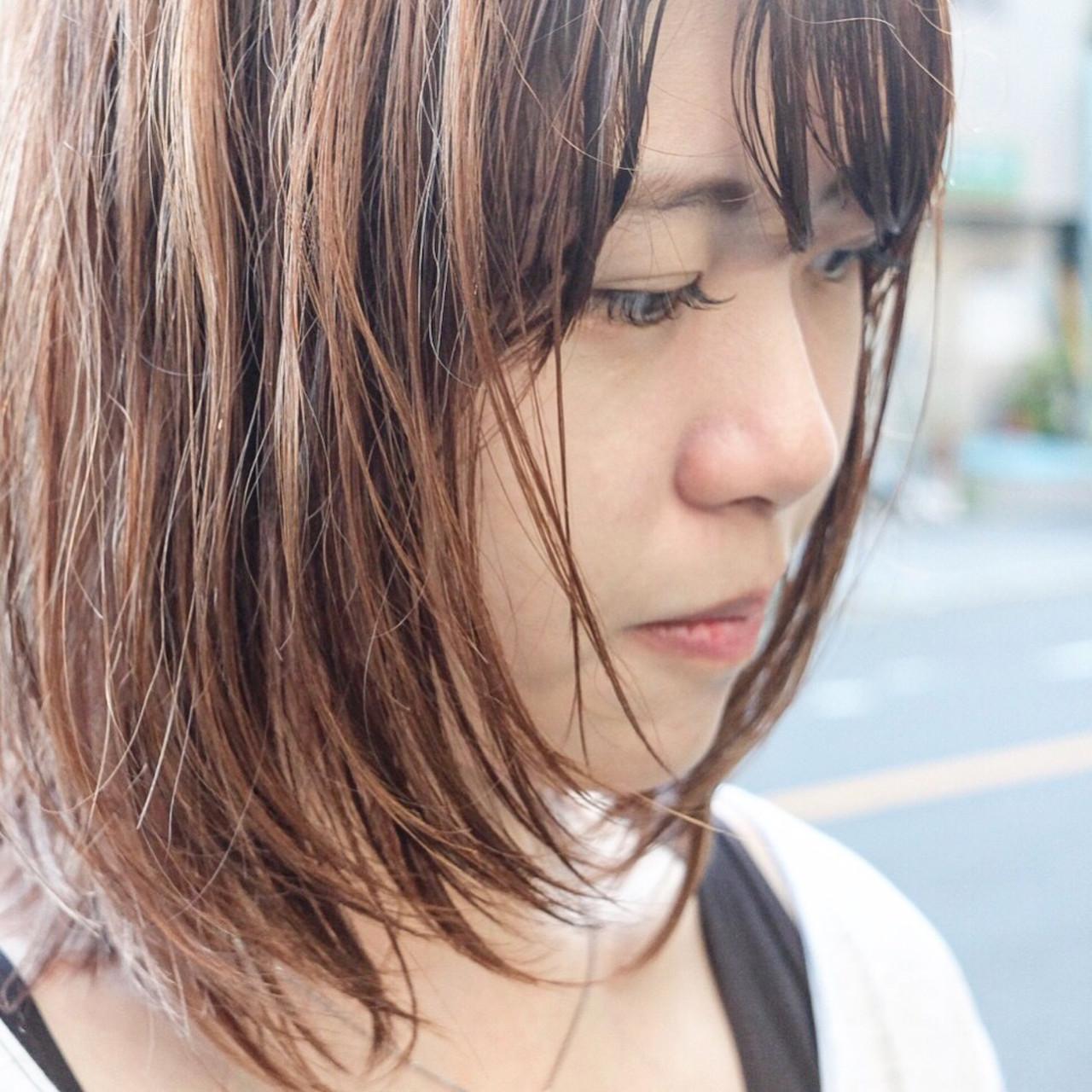 ナチュラル コントラストハイライト 3Dハイライト ナチュラル可愛い ヘアスタイルや髪型の写真・画像