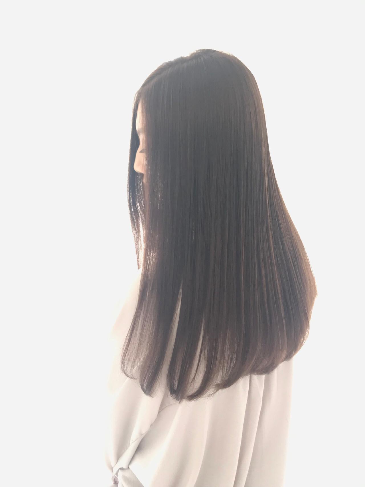 ロング ナチュラル ストレート 髪質改善カラー ヘアスタイルや髪型の写真・画像 | 林田のりこ / プラスアヴェダ