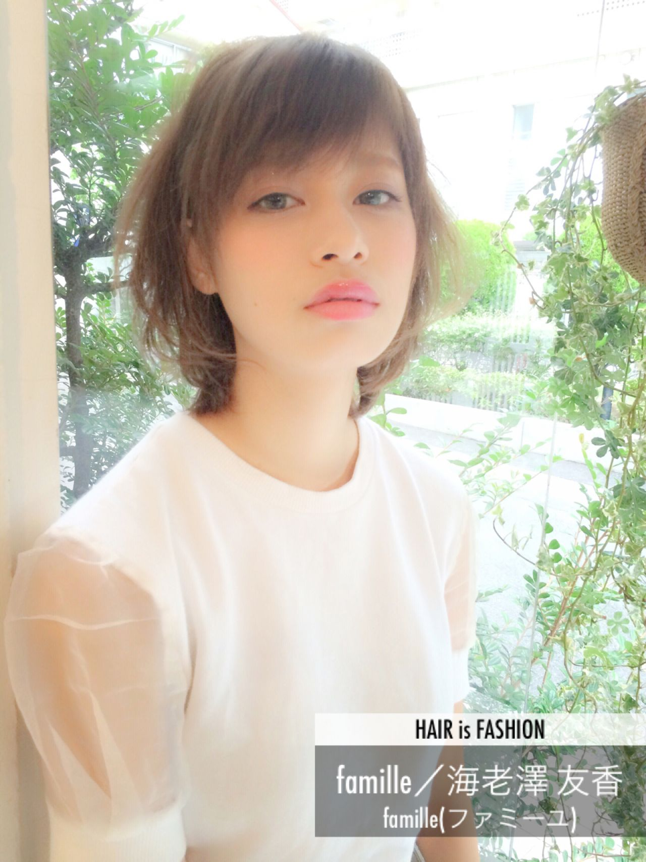 モテ髪 フェミニン ボブ ショート ヘアスタイルや髪型の写真・画像