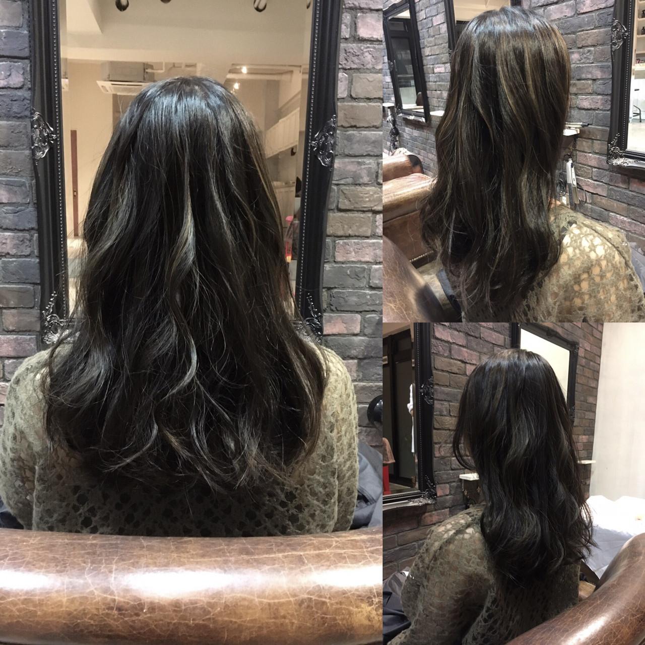 外国人風 セミロング ハイライト ストリート ヘアスタイルや髪型の写真・画像 | 松尾謙佑 / cielo