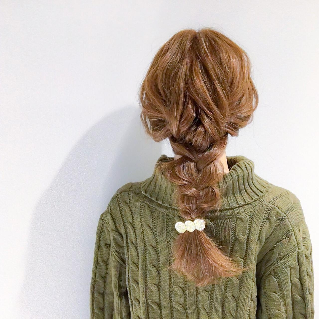 アウトドア デート 簡単ヘアアレンジ ヘアアレンジ ヘアスタイルや髪型の写真・画像