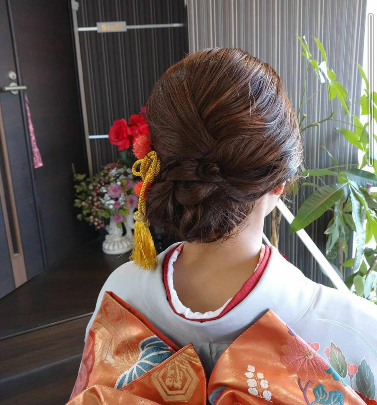 成人式ヘアメイク着付け 結婚式 エレガント 結婚式ヘアアレンジ ヘアスタイルや髪型の写真・画像 | rumiLINKS美容室 / リンクス美容室
