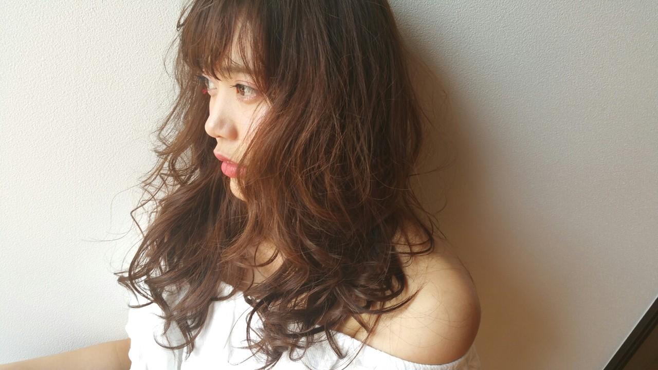 ミディアム かわいい 色気 ゆるふわ ヘアスタイルや髪型の写真・画像