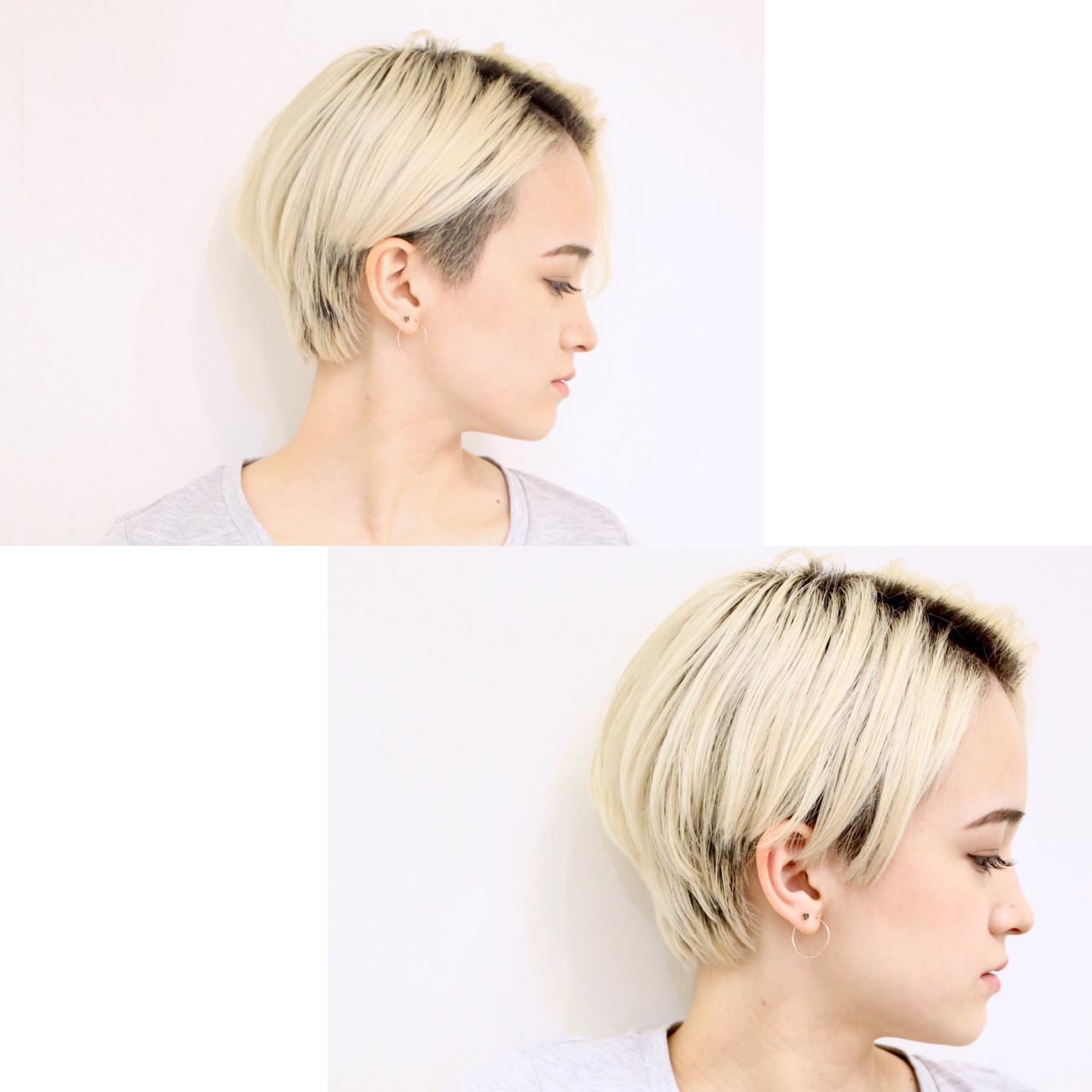 ショート 坊主 大人女子 ストレート ヘアスタイルや髪型の写真・画像 | 溝口優人 / Coast.