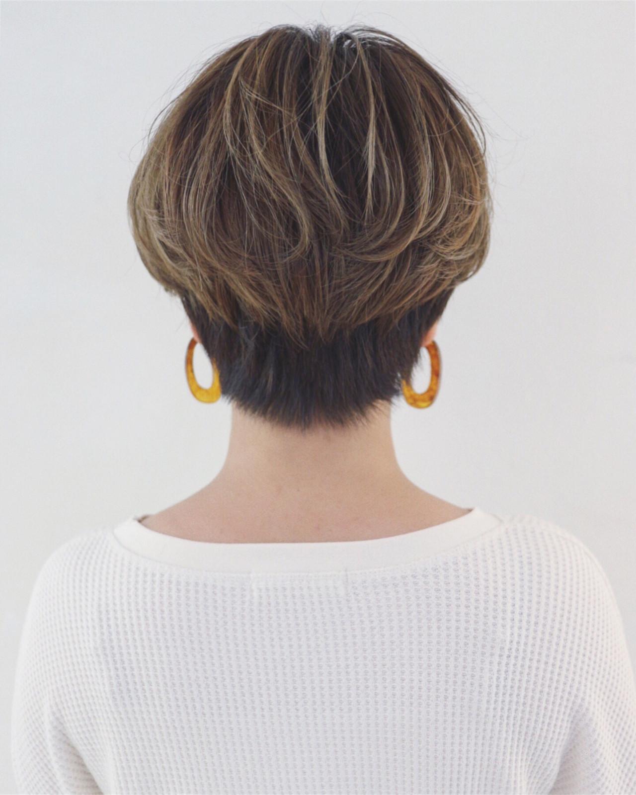 ハイライト 前下がり マニッシュ かっこいい ヘアスタイルや髪型の写真・画像 | 三好 佳奈美 / Baco.(バコ)