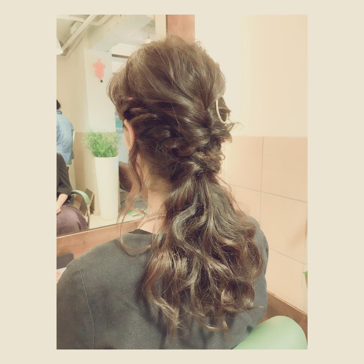 ヘアアレンジ ハーフアップ 大人女子 ロング ヘアスタイルや髪型の写真・画像