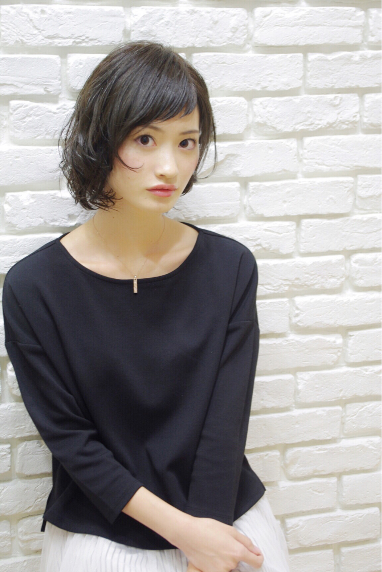 ガーリー ベビーバング ショート ショートバング ヘアスタイルや髪型の写真・画像 | 松田 光雄 / BLOCK