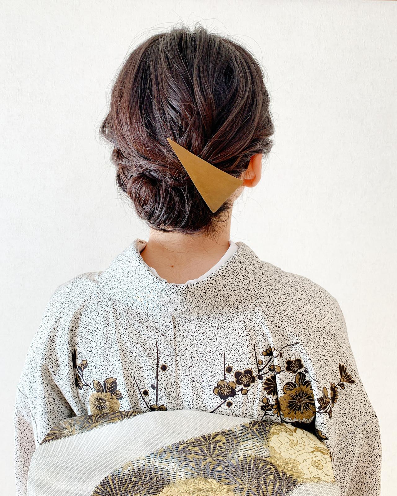 着物 エレガント 結婚式 振袖ヘア ヘアスタイルや髪型の写真・画像 | Moriyama Mami / 福岡天神ヘアセット・着付け専門店【Three-keys】