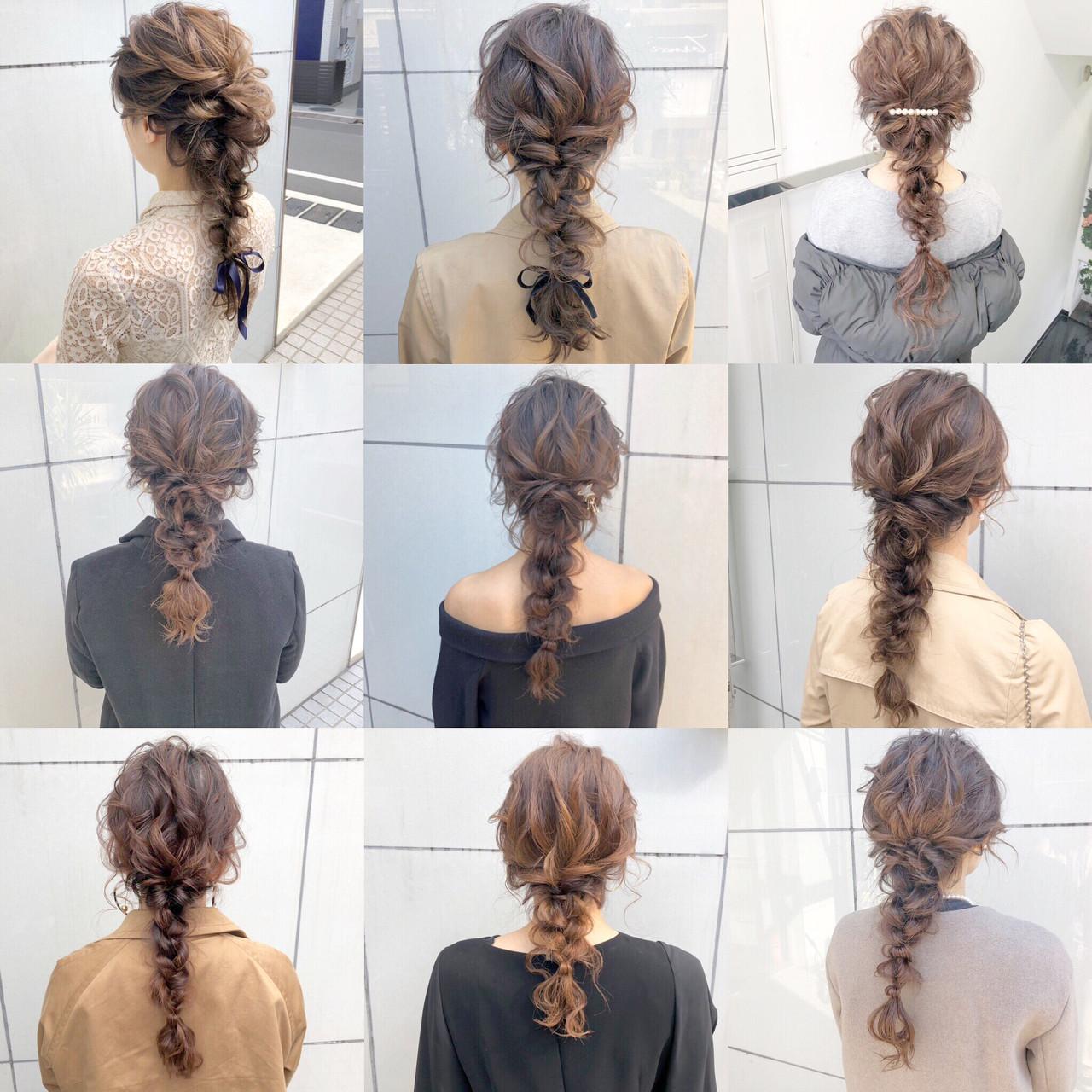 セミロング 結婚式 ナチュラル 簡単ヘアアレンジ ヘアスタイルや髪型の写真・画像