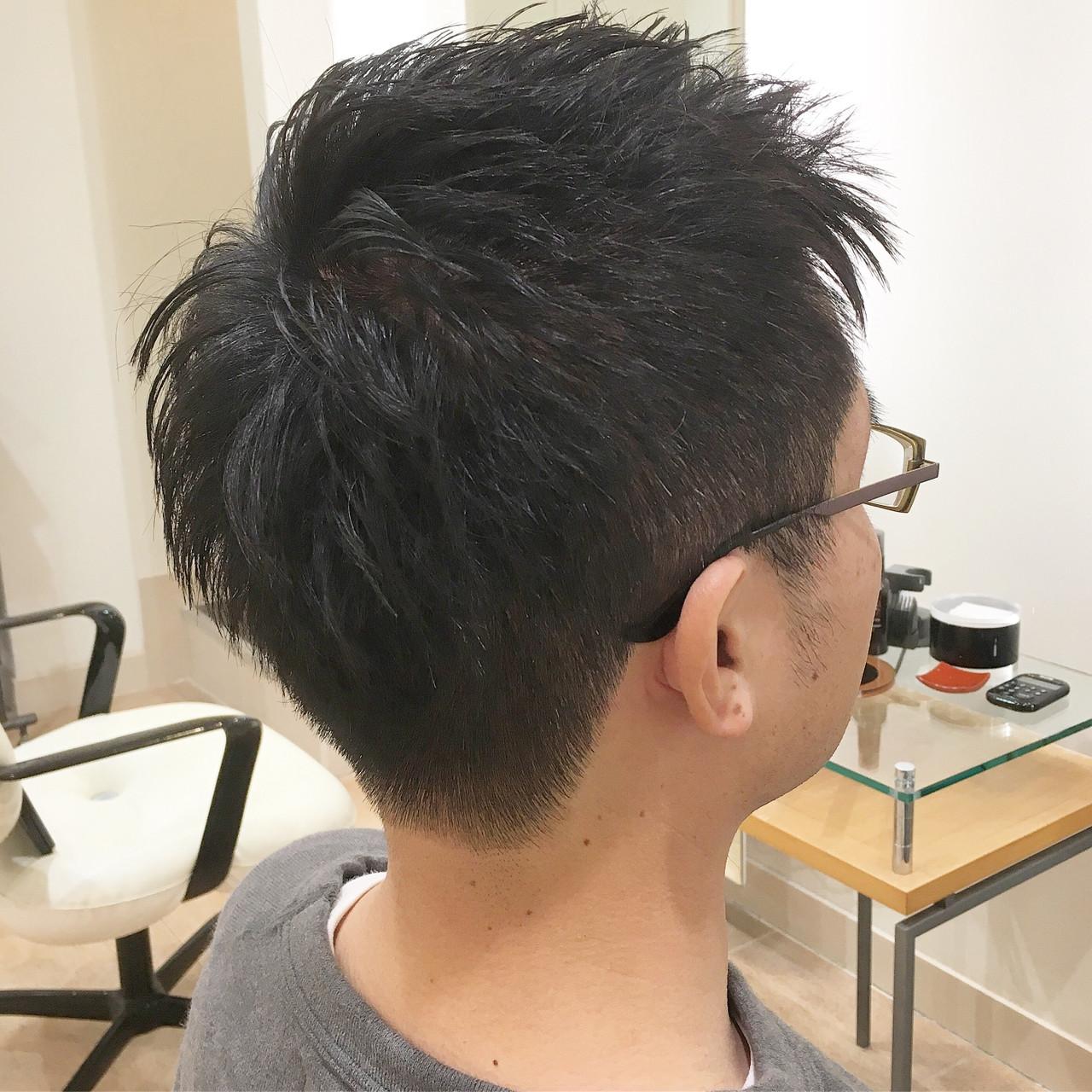 刈り上げ ツーブロック メンズカット ショート ヘアスタイルや髪型の写真・画像   平本 詠一 / fabris