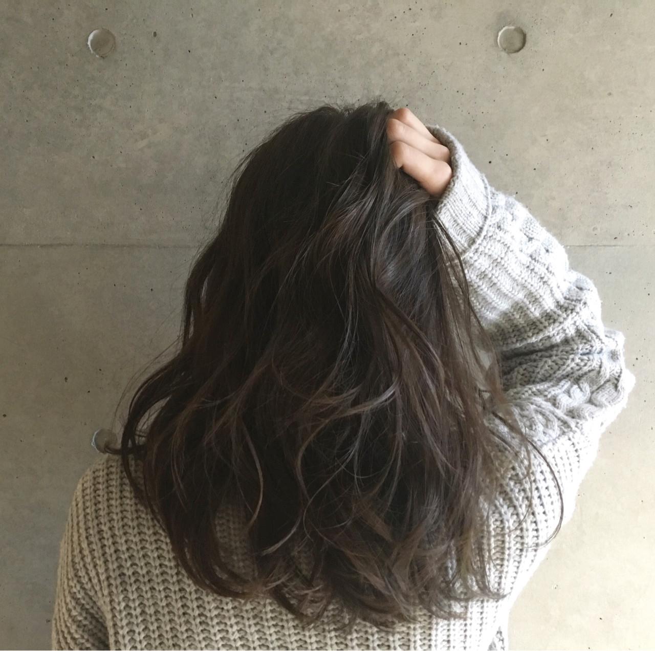 ブラウン ナチュラル アッシュ ゆるふわ ヘアスタイルや髪型の写真・画像 | Sayaka / diptyMOILA