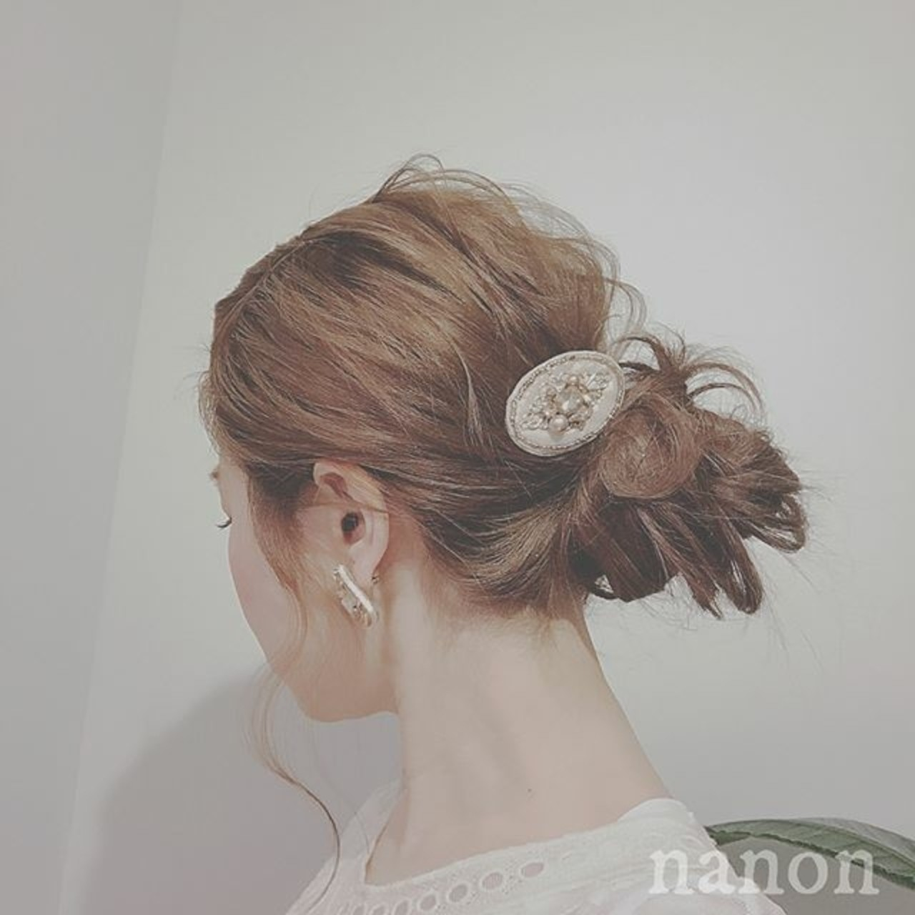 デート フェミニン ロング ヘアアレンジ ヘアスタイルや髪型の写真・画像