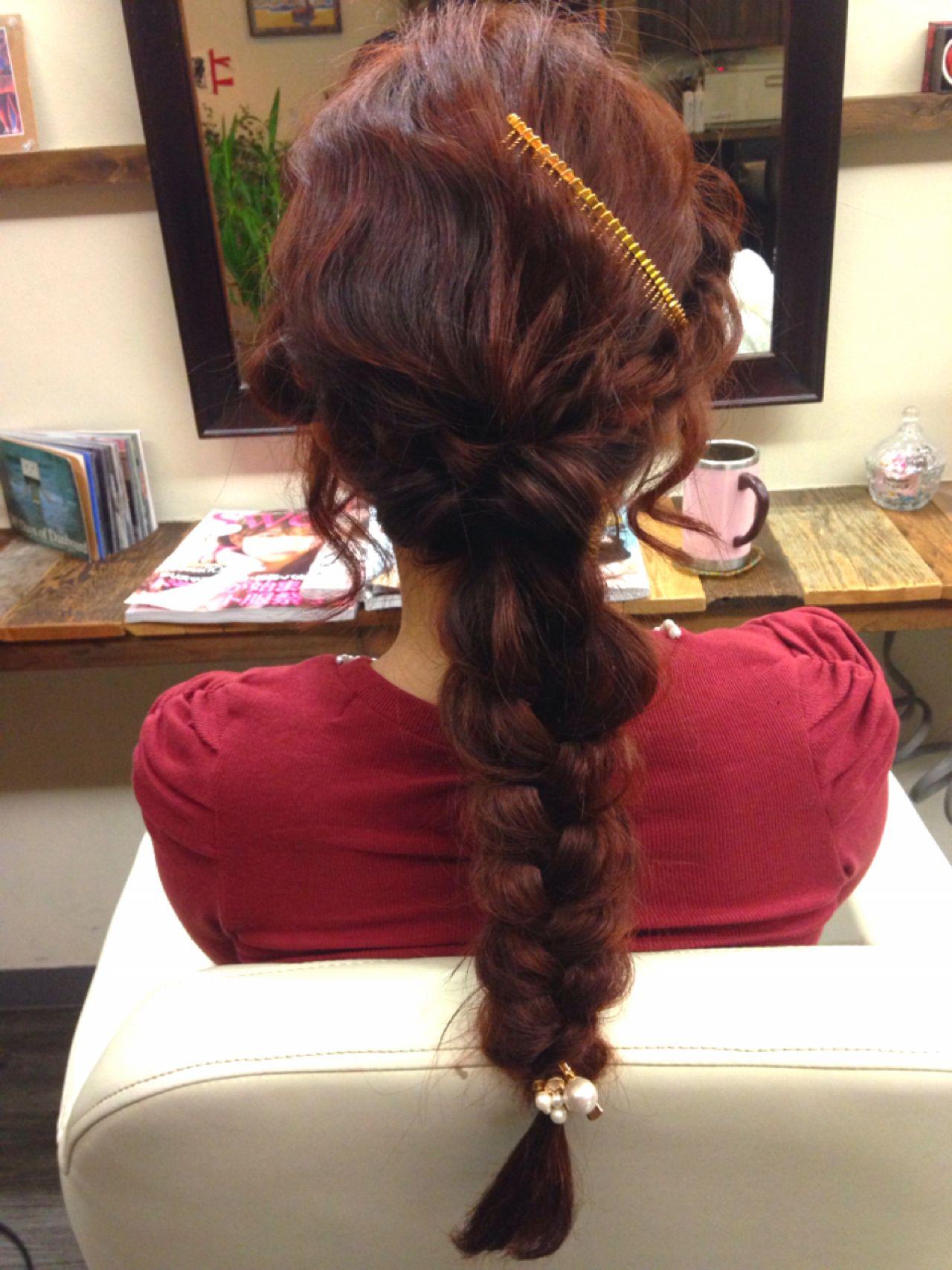 モード 暗髪 ストリート アップスタイル ヘアスタイルや髪型の写真・画像   山中 茉由佳 / hair salon PIANICA