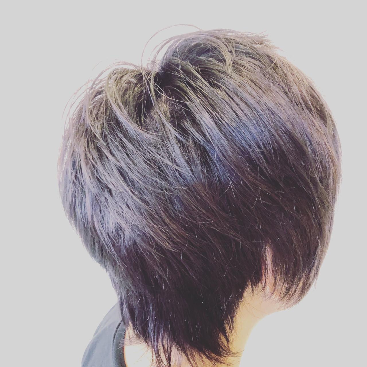 外国人風カラー グレージュ モード ブリーチ ヘアスタイルや髪型の写真・画像