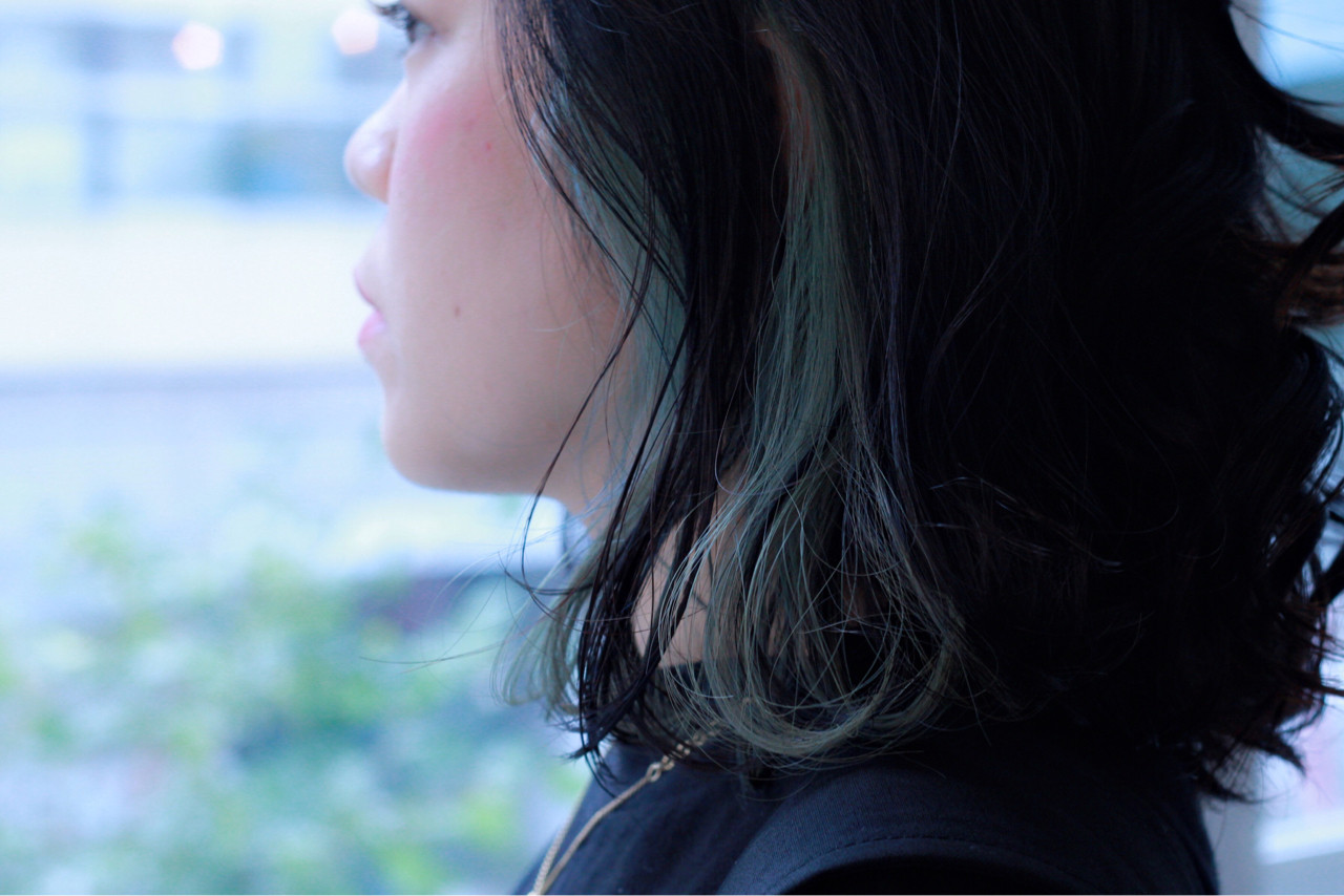 大人女子 ボブ ミディアム ストリート ヘアスタイルや髪型の写真・画像 | ERI / IN SIDE OUT+