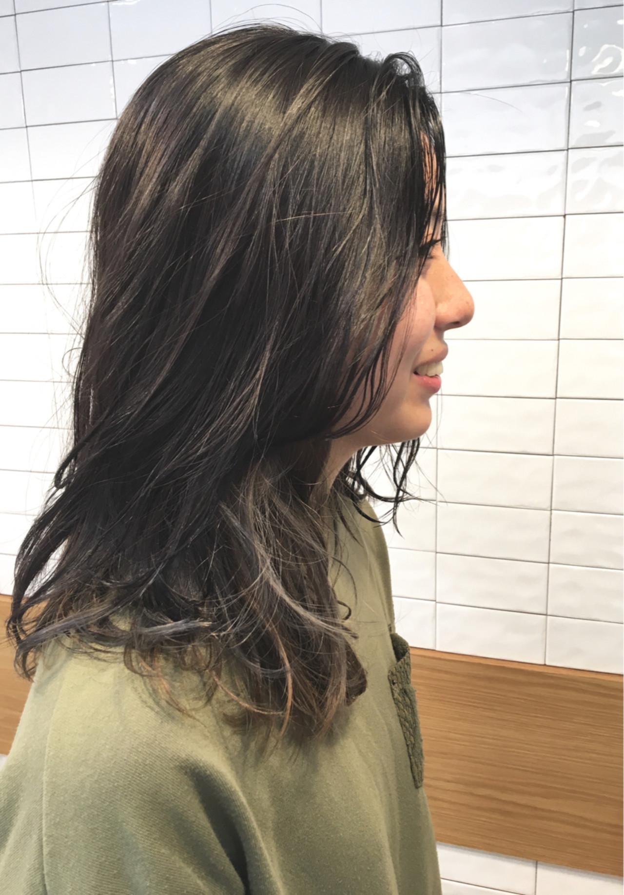 外国人風 ナチュラル グレージュ 外国人風カラー ヘアスタイルや髪型の写真・画像