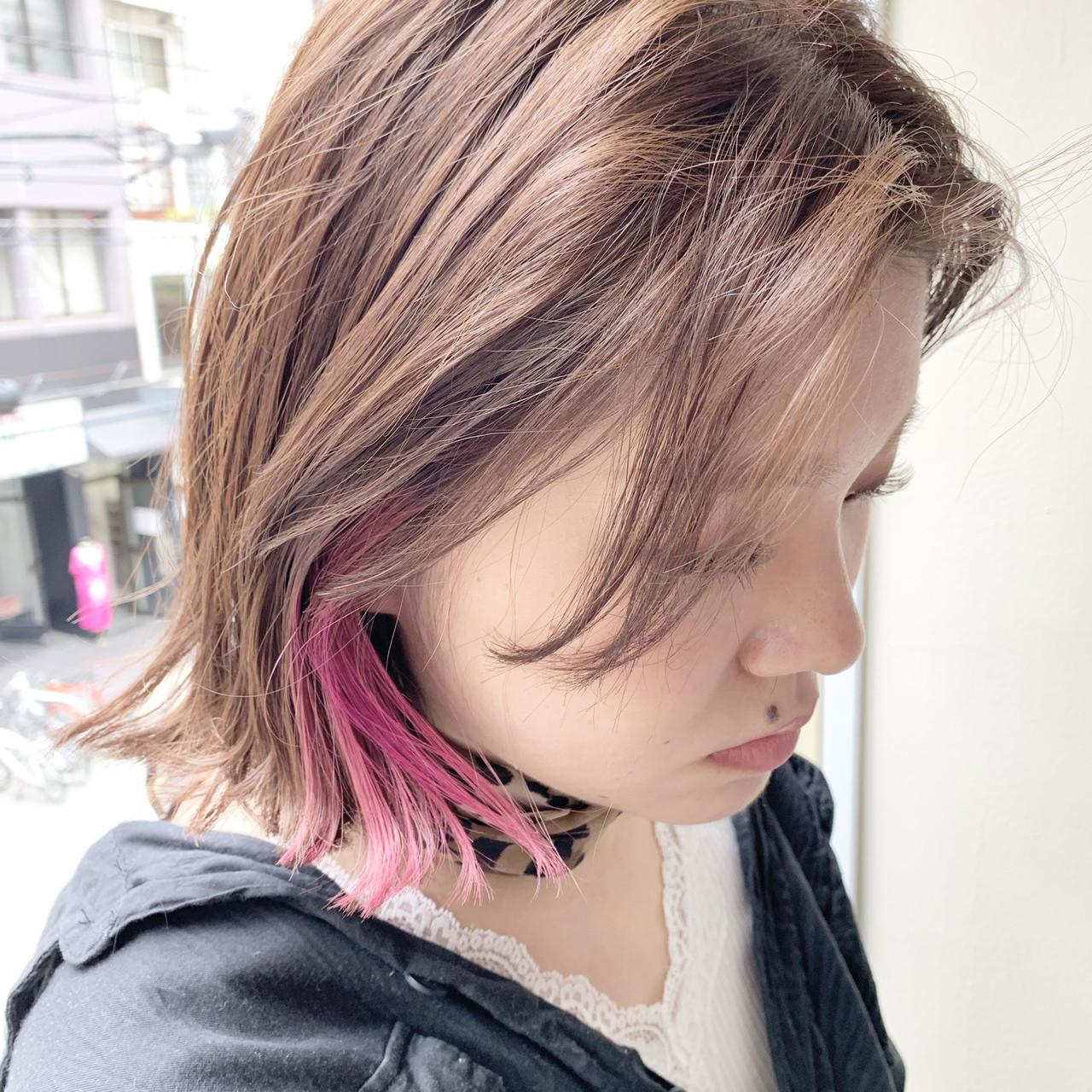 外ハネボブ ストリート ボブヘアー ボブ ヘアスタイルや髪型の写真・画像 | 谷川 健太 / ROVERSI