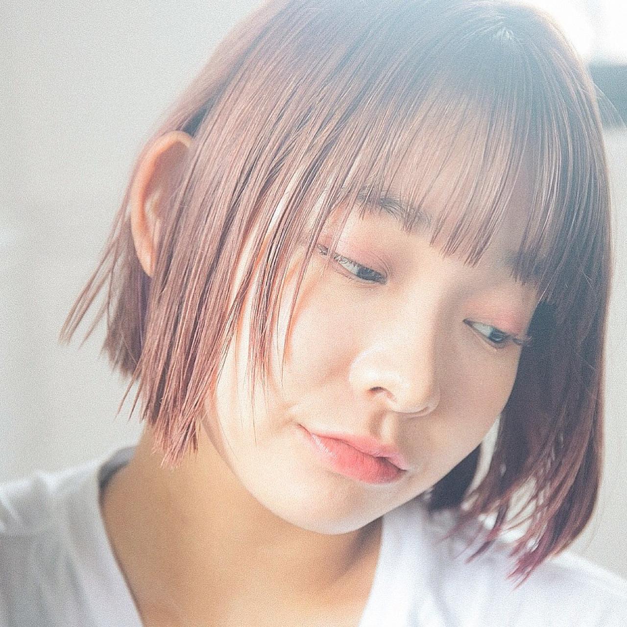 前髪あり ヘアアレンジ 抜け感 夏 ヘアスタイルや髪型の写真・画像